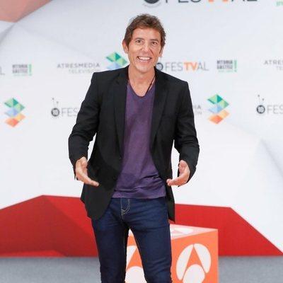 Manel Fuentes en la presentación de 'Tu cara me suena 7' en el FesTVal de Vitoria 2018