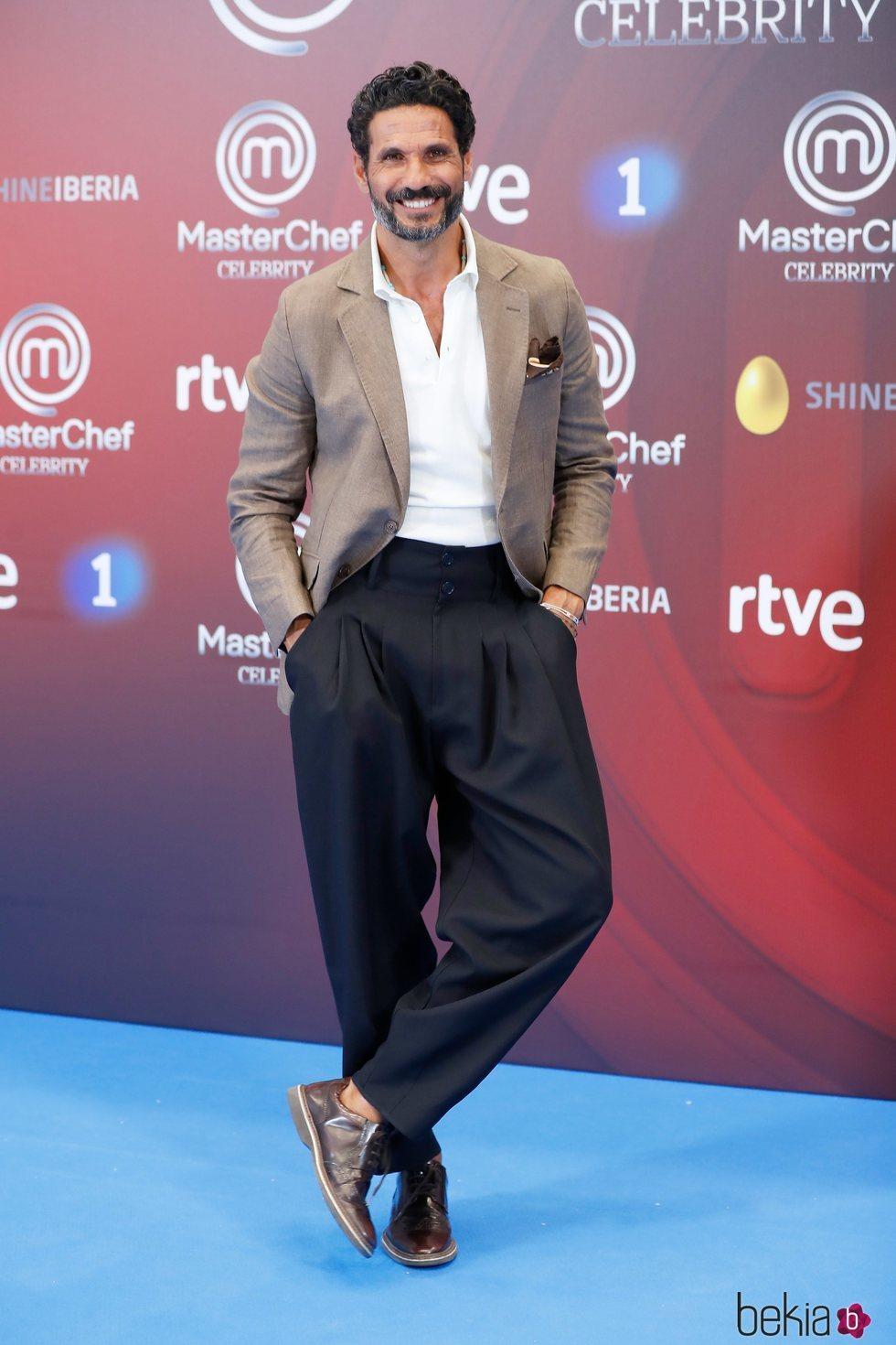 Óscar Higares  en la presentación de 'Masterchef Celebrity 3' en el FesTVal de Vitoria 2018