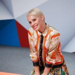 Soraya Arnelas, muy feliz en la presentación de 'Tu cara me suena 7' en el FesTVal de Vitoria 2018