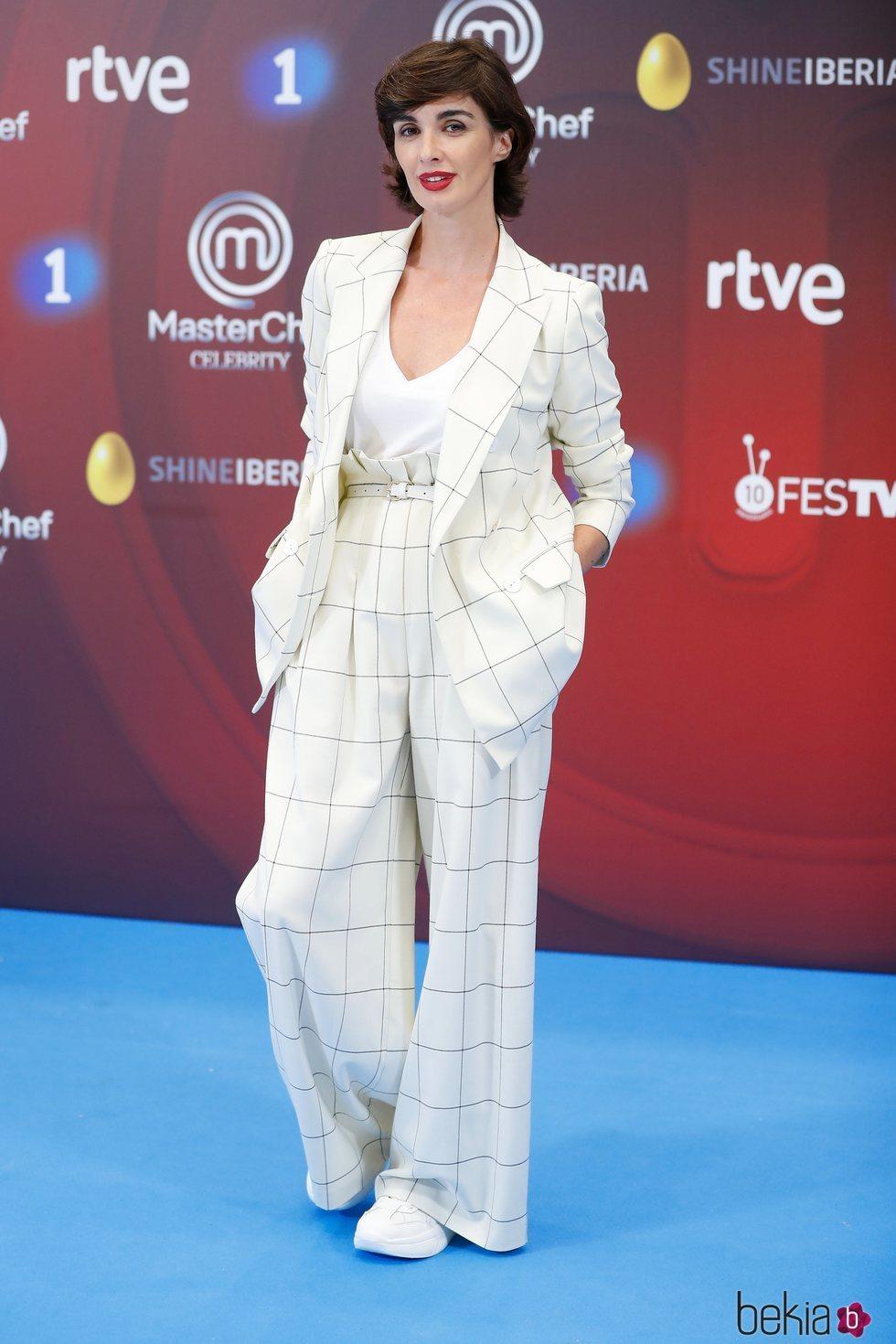 Paz Vega en la presentación de 'Masterchef Celebrity 3' en el FesTVal de Vitoria 2018