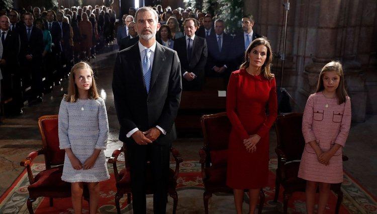 Los Reyes Felipe y Letizia en la Misa por el centenario de la Coronación de la Virgen de Covadonga