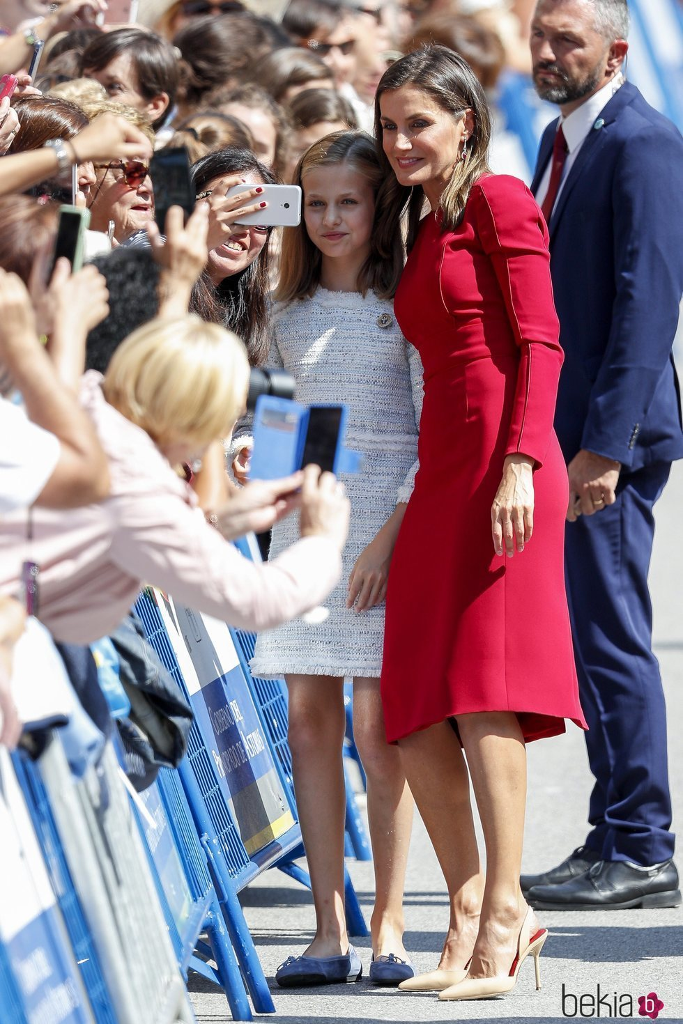La Reina Letizia y la Princesa Leonor se hacen un selfie en Covadonga