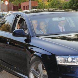 Los Reyes Felipe y Letizia, la Princesa Leonor y la Infanta Sofía en la vuelta al cole