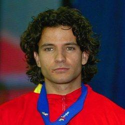 Yago Lamela con su medalla de plata 2003
