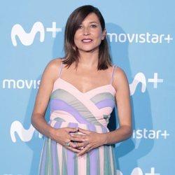 Marian Álvarez luciendo embarazo en la fiesta de presentación de la temporada 2018/2019 de Movistar+