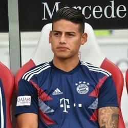 James Rodríguez en un partido con el Bayern Múnich