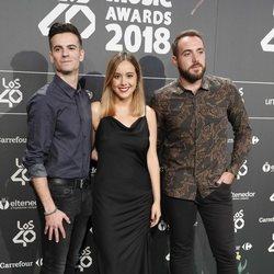 Karin Herrero, Cristina Regatero y Félix Castillo en Los40 Music Awards 2018