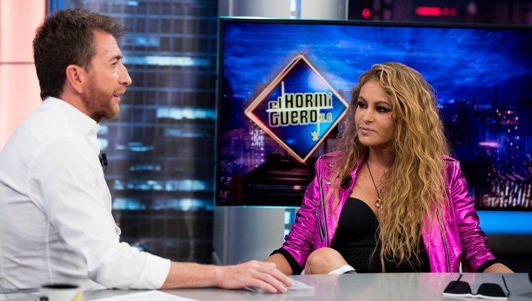 Paulina Rubio y Pablo Motos en 'El Hormiguero'