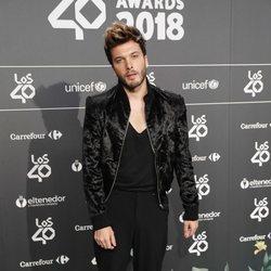 Blas Cantó en la cena de nominados de Los40 Music Awards 2018
