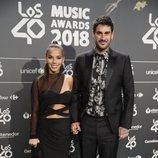 Melendi y Julia Nakamatsu en la cena de nominados de Los40 Music Awards 2018