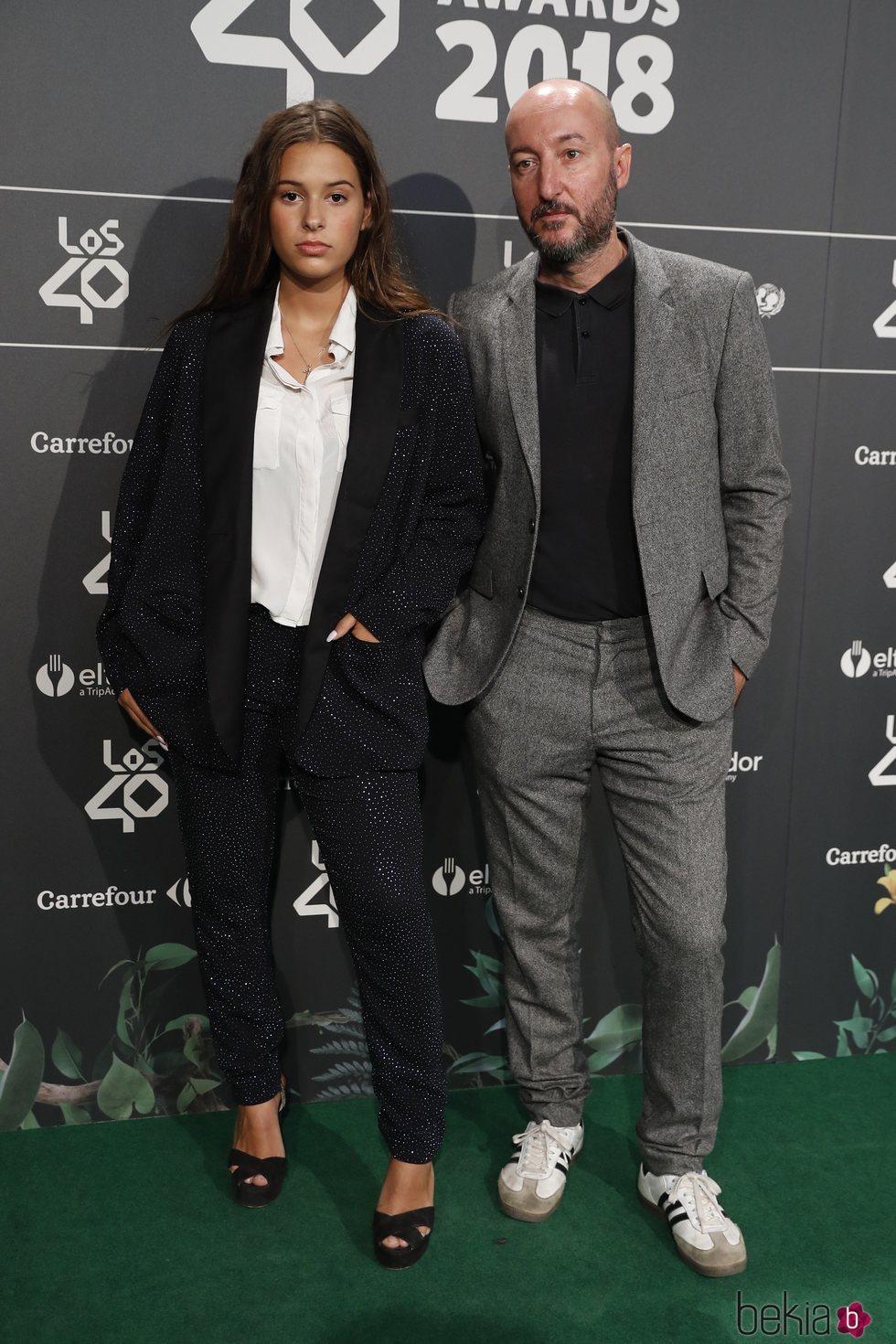 Diego Postigo y Dora Postigo en la cena de nominados de Los40 Music Awards 2018