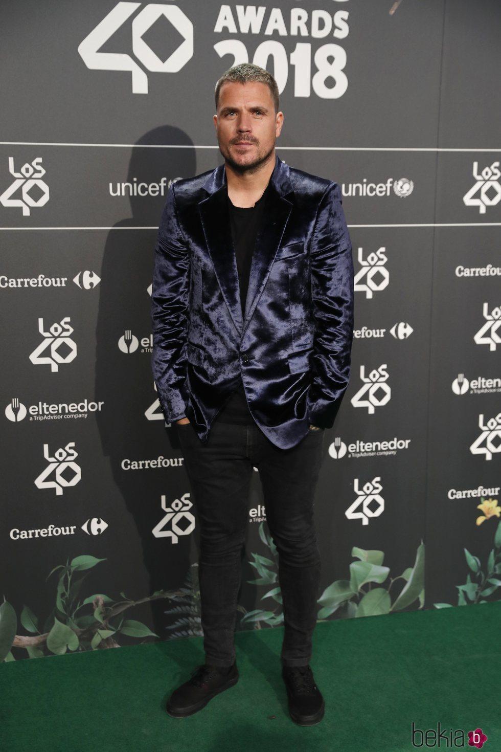Dani Martín en la cena de nominados de Los40 Music Awards 2018