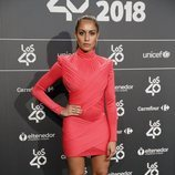 Hiba Abouk en la cena de nominados de Los40 Music Awards 2018