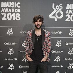 David Otero en la cena de nominados de Los40 Music Awards 2018