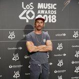 Macaco en la cena de nominados de Los40 Music Awards 2018