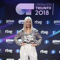 Vicky Gómez en la presentación de 'OT 2018'