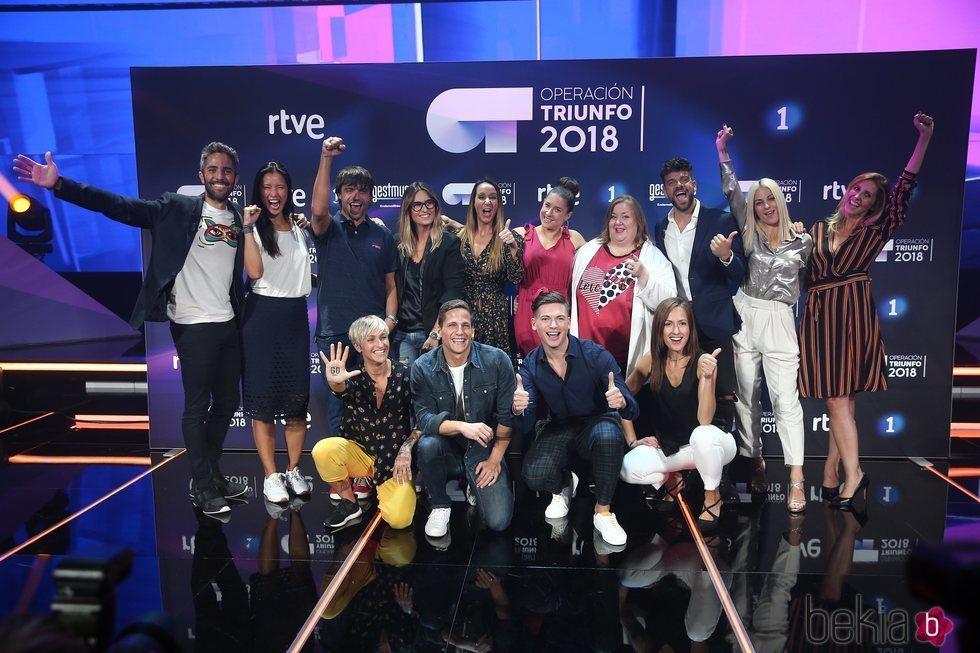 Antiguos y nuevos profesores de 'OT 2018'