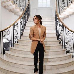Victoria Beckham antes de presentar su colección en la London Fashion Week