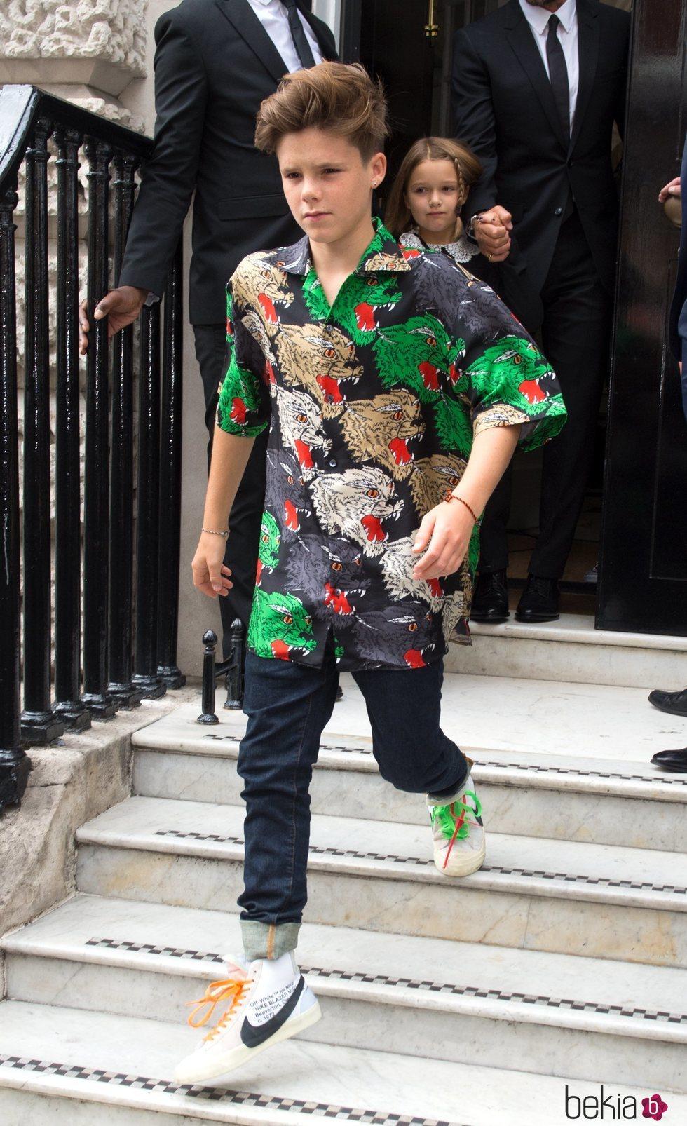 Cruz Beckham en la London Fashion Week