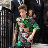 Cruz Beckham en la London Fashion Week