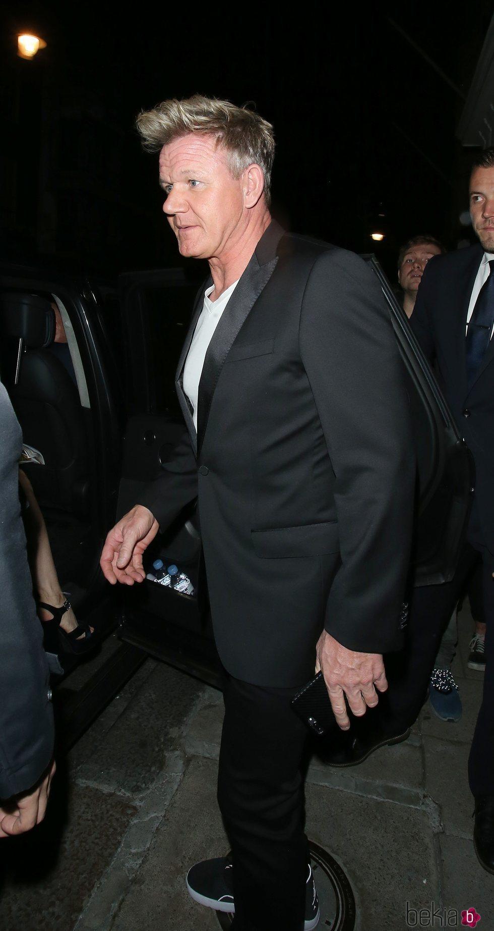 Gordon Ramsay en la fiesta del décimo aniversario de Victoria Beckham en la moda