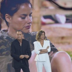 Sandra Barneda y Carlos Lozano en el primer debate de 'GH VIP 6'