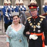 Enrique y María Teresa de Luxemburgo en la boda de Victoria de Suecia y Daniel Westling