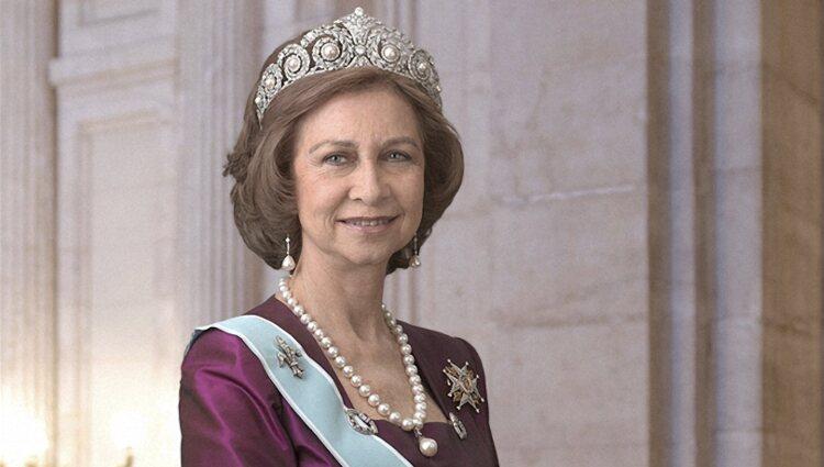 Posado oficial de la Reina Sofía en el Palacio Real de Madrid