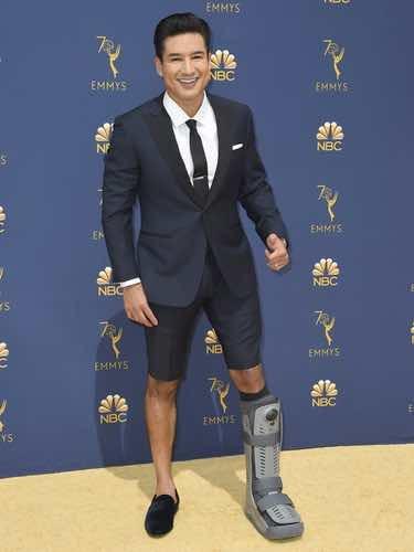 Mario Lopez en la alfombra roja de los Premios Emmy 2018