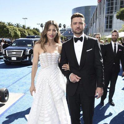 Justin Timberlake y Jessica Biel en los Premios Emmy 2018