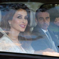 Paloma Cuevas y Enrique Ponce en el bautizo del hijo de María Zurita