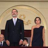 Los Reyes Felipe y Letizia, Ana Pastor y Carmen Calvo en el palco del Teatro Real de Madrid