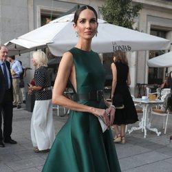 Eugenia Silva a su llegada al Teatro Real para la inauguración de la temporada 2018