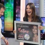 Ana Guerra recoge su Disco de Platino en 'El Hormiguero'