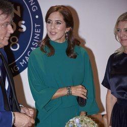 La Princesa Mary de Dinamarca presidiendo unos premios de moda en Copenhague