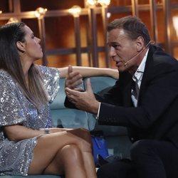 Laura Matamoros y Carlos Lozano discutiendo en la segunda gala de 'Gran Hermano VIP 6'