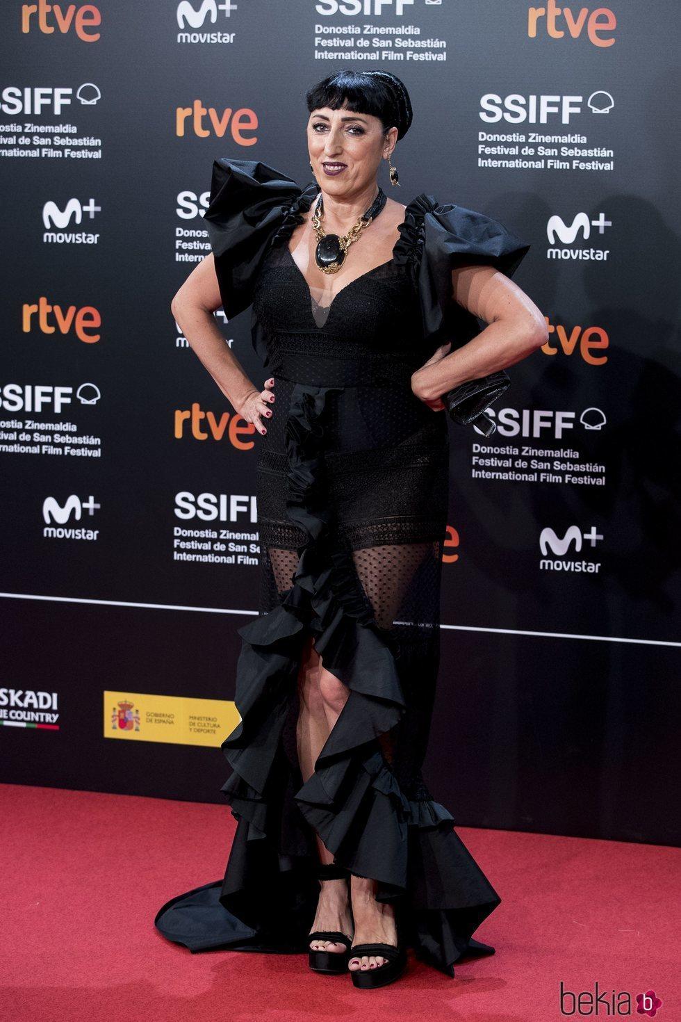 Rossy de Palma en el Festival de Cine de San Sebastián de 2018