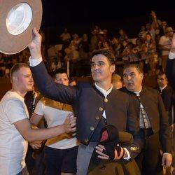 Jesulín de Ubrique tras finalizar la corrida en el Festival Taurino de Casatejada
