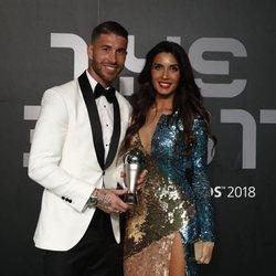 Sergio Ramos y Pilar Rubio en The Best FIFA 2018