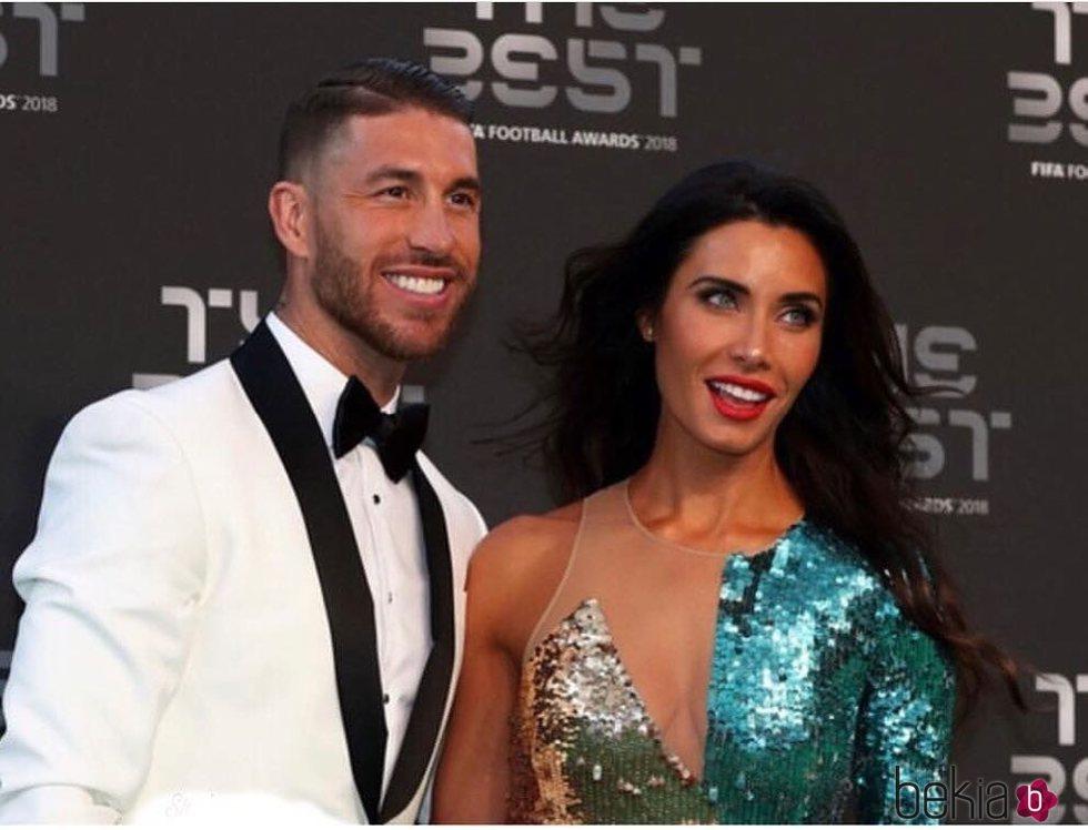 Sergio Ramos y Pilar Rubio, muy sonrientes en la gala de los premios The Best FIFA 2018