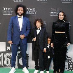 Marcelo con su mujer y sus hijos en la gala de los premios The Best FIFA 2018