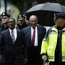 Bill Cosby llegando a un tribunal de Norristown