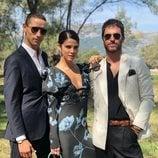 Daniel Duboy, Juana Acosta y Alfonso Bassave en la boda de Pelayo Díaz y Andy McDougall