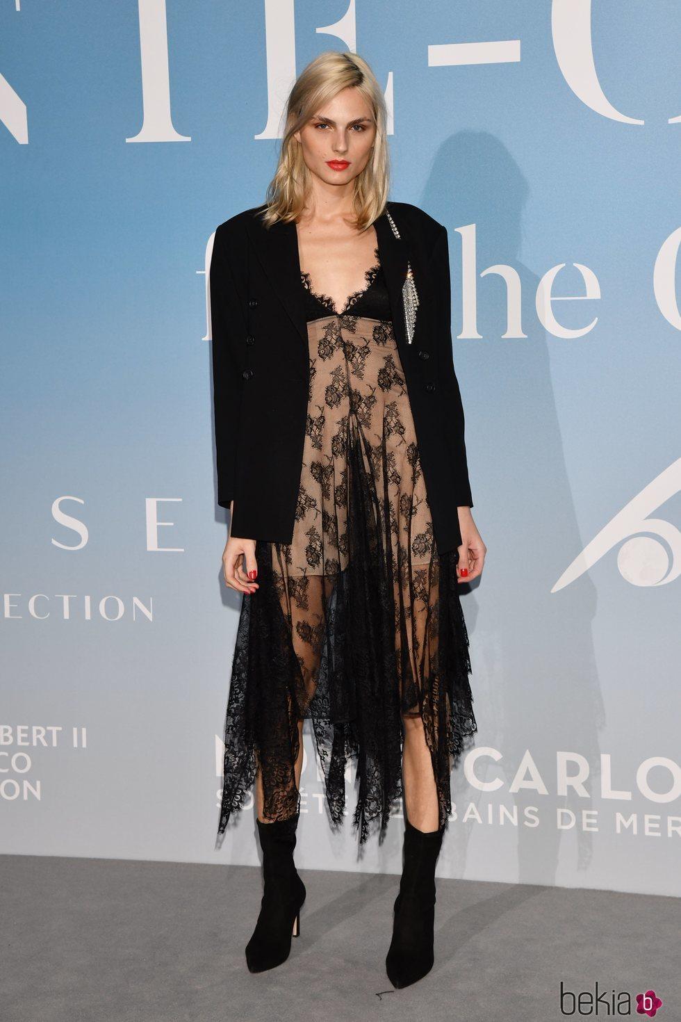 Andreja Pejic en la Gala Global Ocean 2018 de la Fundación Príncipe Alberto II de Mónaco