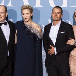 Alberto y Charlene de Mónaco, Orlando Bloom y Katy Perry en la Gala Global Ocean 2018 de la Fundación Príncipe Alberto II de Mónaco