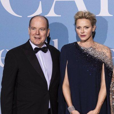 Alberto y Charlene de Mónaco en la Gala Global Ocean 2018 de la Fundación Príncipe Alberto II de Mónaco