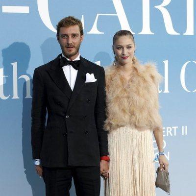 Pierre Casiraghi y Beatrice Borromeo en la Gala Global Ocean 2018 de la Fundación Príncipe Alberto II de Mónaco