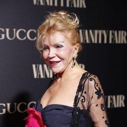 La Baronesa Thyssen en la alfombra de la fiesta de Vanity Fair 2018