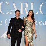 Robin Thicke y April Love Geary en la Gala Global Ocean 2018 de la Fundación Príncipe Alberto II de Mónaco