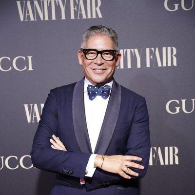 Boris Izaguirre en la alfombra de la fiesta de Vanity Fair 2018